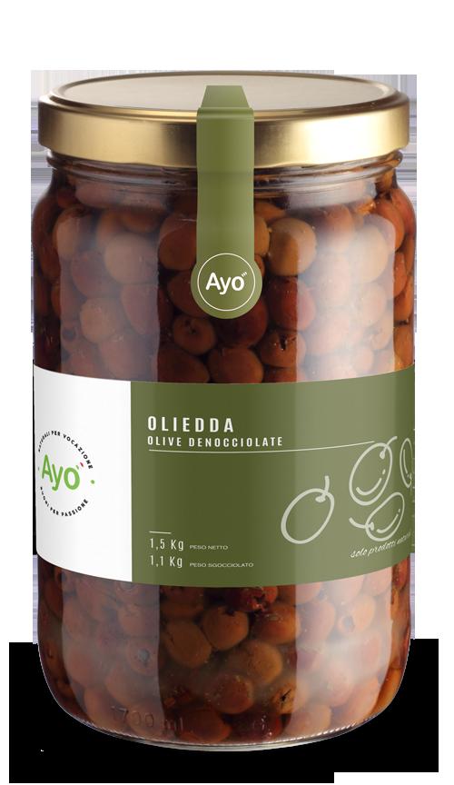 Oliedda stoned olives
